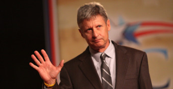 Former Governor Gary Johnson speaking at CPAC FL in Orlando, Florida, Photo: Gage Skidmore