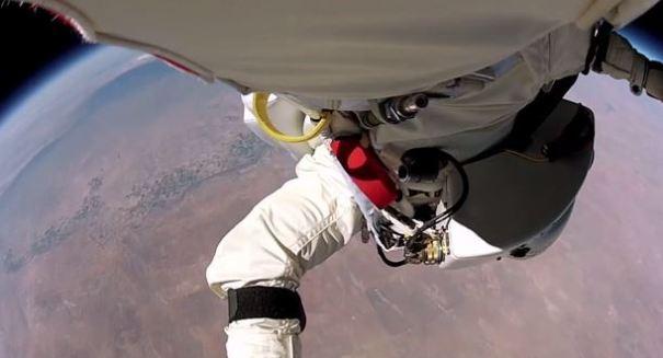 INSANE footage of Felix Baumgartner's record-breaking space jump released [VIDEO]