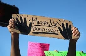 Hands Up Don't Shoot Protest Sign