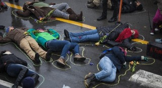 NYU Students protest amid finals week