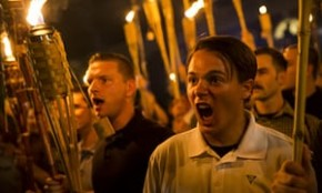Nazi with torches