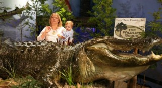 Must see: Biggest gator EVER unveiled in Alabama -- 15 feet 9 inches and 1,011.5 pounds