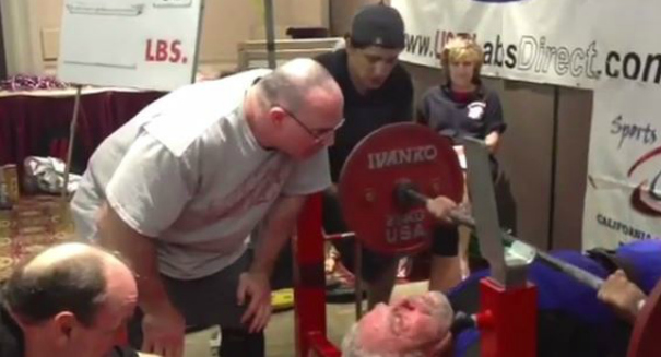 91-year-old man breaks world bench-press record