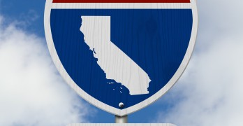 California road sign