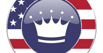 Crown usa design web american round internet icon with shadow on