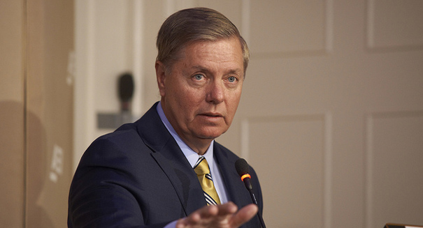 Lindsey Graham happily sets out on the campaign trail