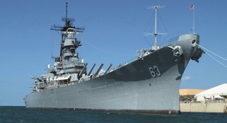 Battleship USS Missouri commemorates launch and Pearl Harbor memorial
