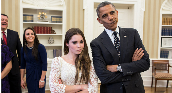 Obama, U.S. Olympian's 'not impressed' look goes viral