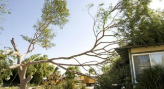 Hurricane-strength winds blast Southern California, knock out power