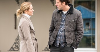 Maria Bello and Clive Owen play a divorced couple in the new film, 'The Confirmation.""