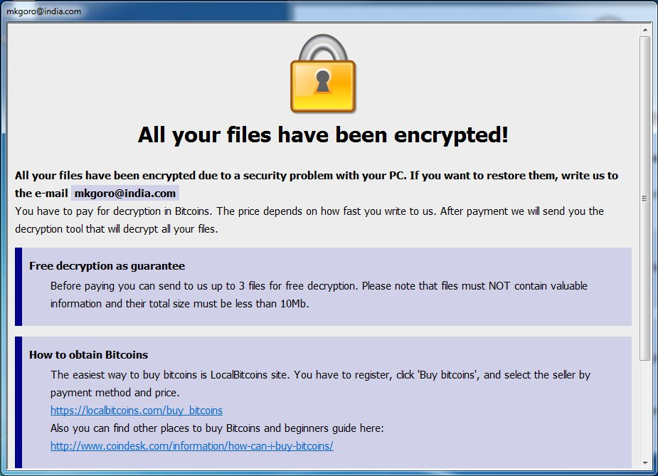 Don't Pay for Ransomware!