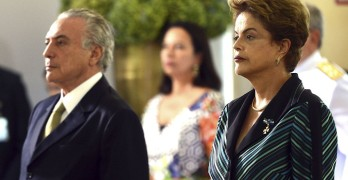 Dilma Rousseff and Michel Temer. Images by Agência Brasil via Wikipedia