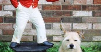 lawn-jockey-with-dog