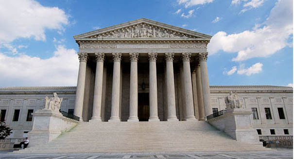 The U.S. Supreme Court building. Washington, D.C., USA.
