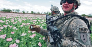 soldiers and opium